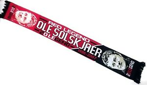 b6278c53a88 Image is loading Manchester-United-Scarf-Legend-Ole-Solskjaer-Football-Gifts
