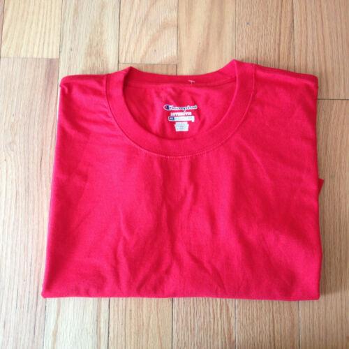 Champion Mens Red Short Sleeve Cotton Athletic Tee T-Shirt Sz 2X 2XL