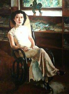 """high quality oil painting 100% handpainted on canvas """"Portrait of Ms Jenny """""""