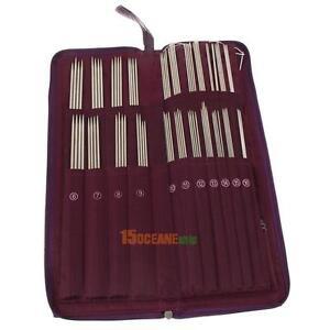 104Pcs-agujas-de-tejer-de-recto-Circular-De-Acero-Inoxidable-Crochet-Gancho-Tejido-Set