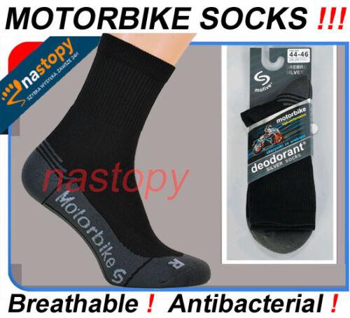 Route pour homme motif chaussettes moto moto hors route silver protéger respirant