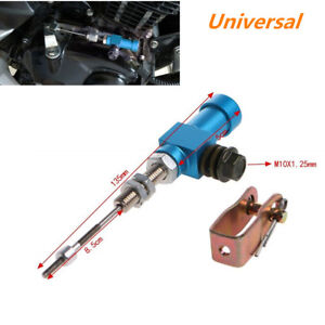 Clutch Brake Pump Blue M10x1.25mm Universal Motorcycle Hydraulic Clutch Master Cylinder Rod Brake Pump