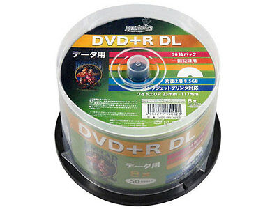 50 Hi-Disc DVD+R DL 8.5GB 8x Speed Dual Layer DVD Discs Inkjet Printable