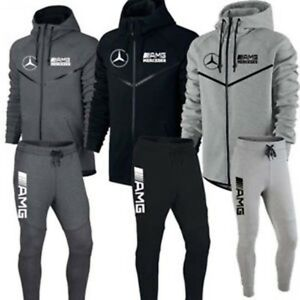 JOGGING AMG MERCEDES XS S M L XL XXL HOMME SURVETEMENT NOIR  f747a0da2db