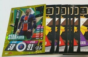 2020/21 Match Attax UEFA Champions - Lot of 20 cards incl Star Player Neymar