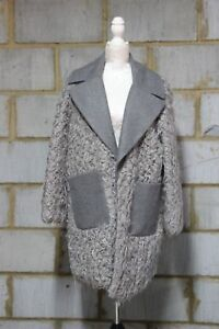 con contrasto donna Cappotto in color e sintetica collo colore pelliccia corpo in da 14 a Asos grigio Uk wgtPg