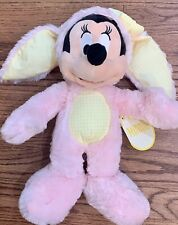 Disney Minnie Mouse Easter Bunny Plush Toy Pink Yellow Gingham 2016
