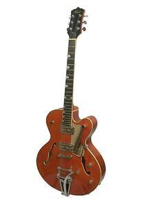 Alden AD Western Star Semi Acoustic Guitar Classic Orange Jazz Archtop Hollow