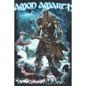 OFFICIAL LICENSED - AMON AMARTH - JOMSVIKING WOVEN SEW-ON PATCH METAL VIKING