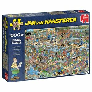Jumbo-Comic-Jigsaw-Puzzle-The-Pharmacy-By-Jan-Van-Haasteren-1000-Piece