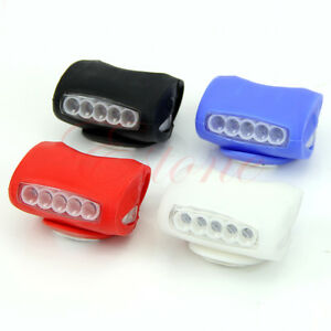 Safety-Warning-Light-Bicycle-Bike-Cycling-7-LED-Frog-Silicone-Front-Lamp-Head