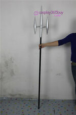 Katekyo Hitman Reborn Chrome Dokuro's Trident cosplay props wood pvc made
