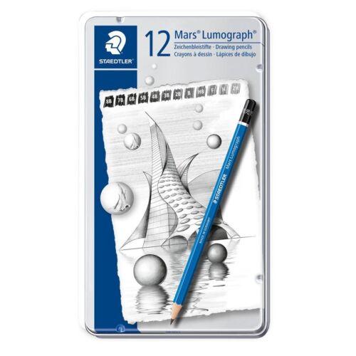 Staedtler Mars Lumograph Drawing Pencils 12-Count Set