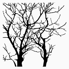 TREES STENCIL BRANCHES TREE TEMPLATE PATTERN CRAFT BRANCH PAINT ART NEW BY TCW
