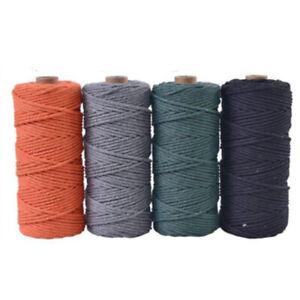 3mm-Algodon-Natural-Cuerda-Cordon-Retorcido-Beige-Manualidades-Macrame-Artisan