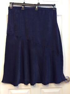 a77c7a42aeace BP. women s skirt Plus Size XXL 100% Polyester Navy Blue Side Zipper ...