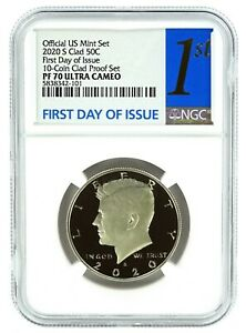 2020 S Kennedy Clad Half NGC PF70 Ultra Cameo First Day Issue Label