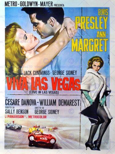 ADVERT MOVIE FILM VIVA LAS VEGAS ELVIS PRESLEY MGM USA POSTER ART PRINT BB4675A