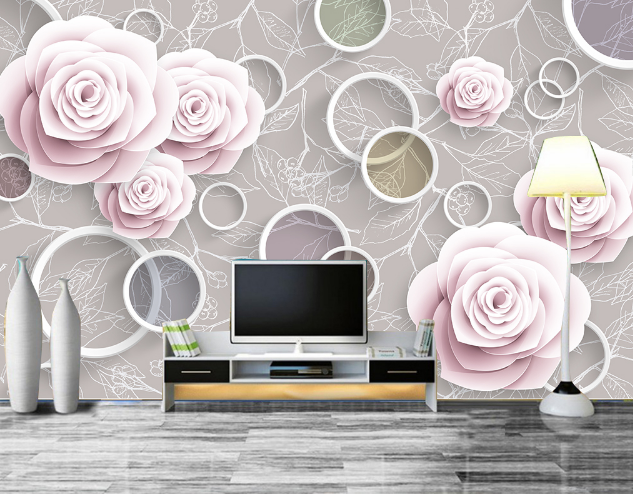 3D Petal Bloom Circle 264 Paper Wall Print Wall Decal Wall Deco Indoor Murals