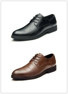 Men-Business-Dress-Formal-Leather-Shoes-Oxfords-Loafers-Lace-Up-Pointy-Toe-New