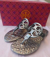 578410611ac0ca item 1 Tory Burch Quilted Marion Metallic Miller Leather Sandal Gunmetal  Size 5 New -Tory Burch Quilted Marion Metallic Miller Leather Sandal  Gunmetal Size ...