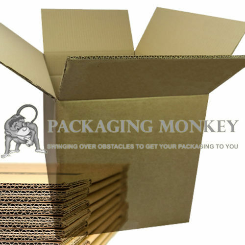 """20 x DOUBLE WALL REMOVAL CARDBOARD BOXES 24x18x18/"""" PACKING MAILING"""