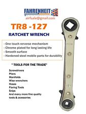 1 Hvac Refrigeration Combination Ratchet Service Wrench 14 38 316 516
