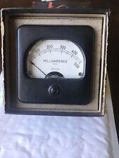 Vintage Simpson Model 27 Square Panel Meter 0 500 Dc Milliamperes Used