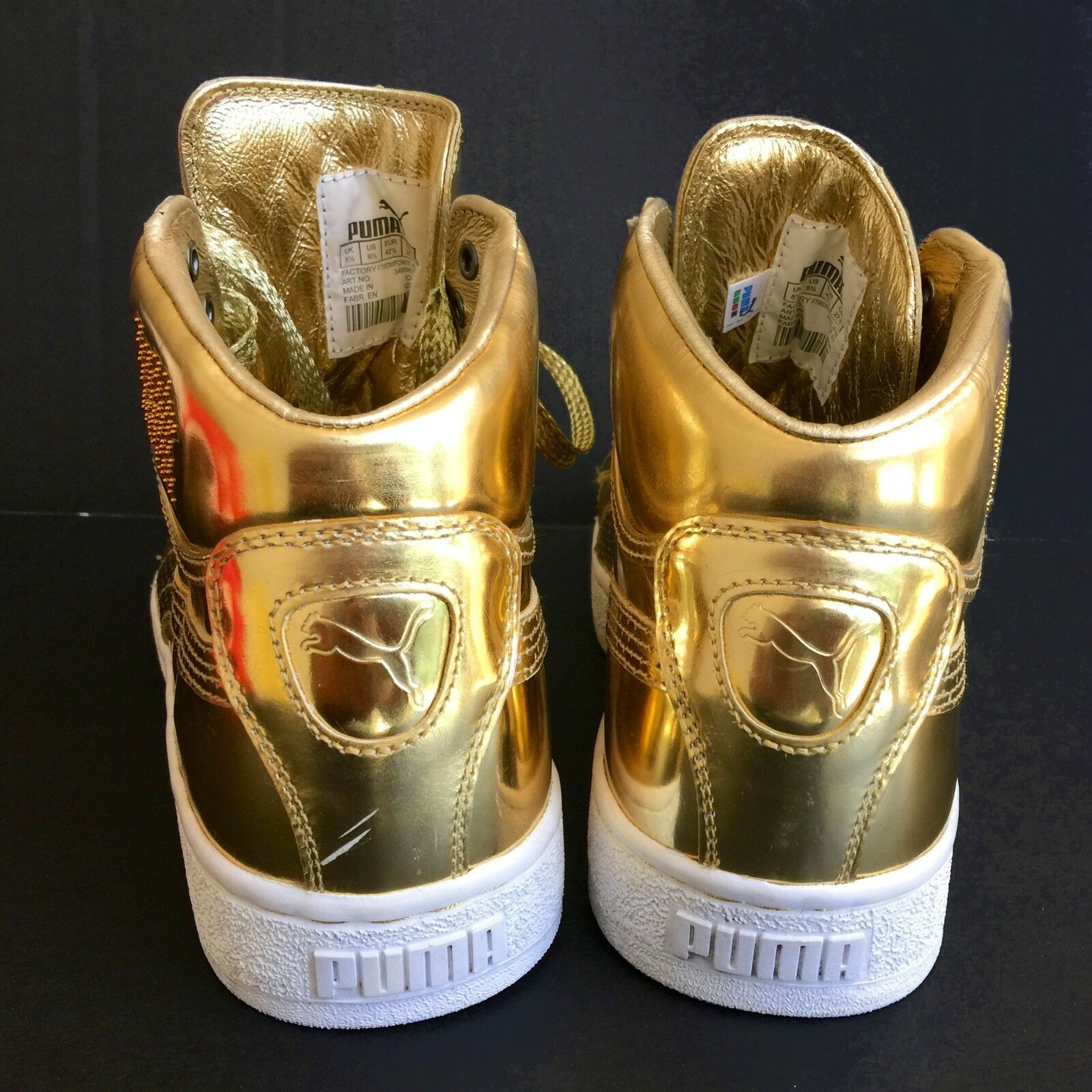 New PUMA UNDFTD 24K Mid Mirror gold Edition Edition Edition Sneakers size 9.5 607277