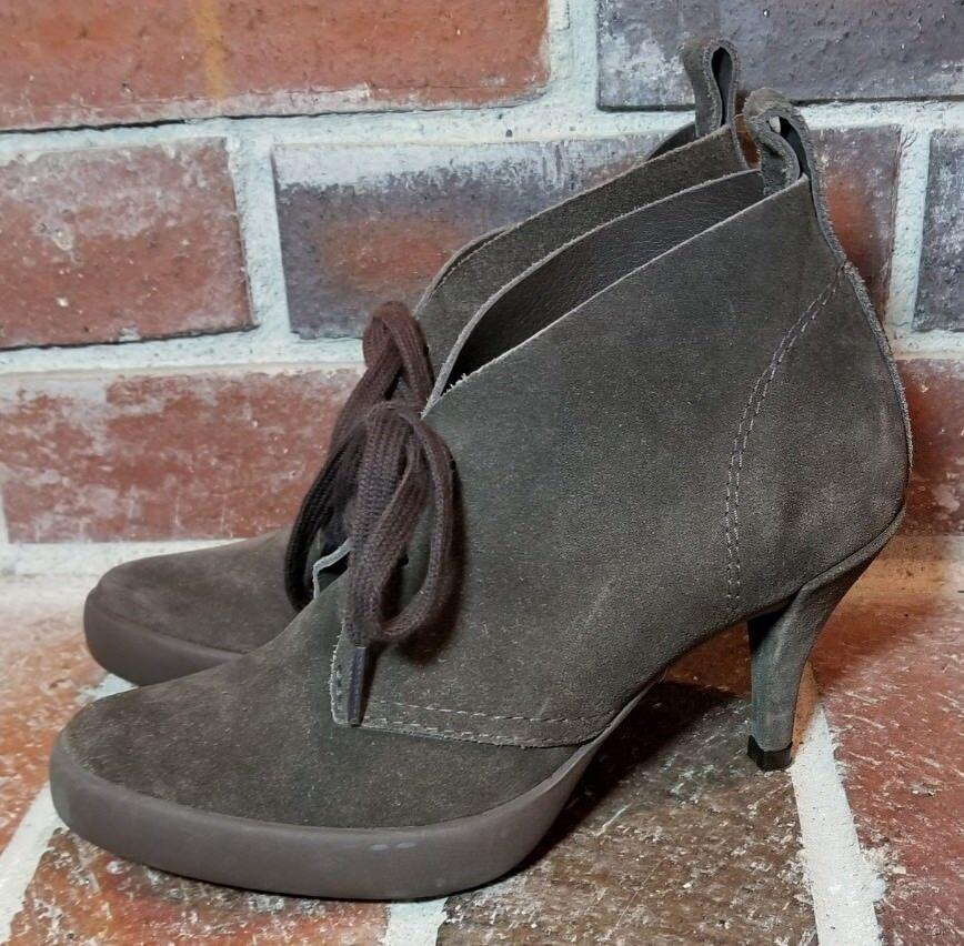 Pedro Garcia Chocolate Brown Suede Lace Up High Heel Booties - Women's Size 36