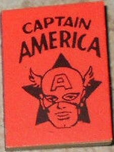 1966 MARVEL MINI BOOK CAPTAIN AMERICA RED NM RARE GIVEAWAY PROMO PROMOTIONAL