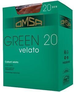 """OMSA """"GREEN 20"""" SET 10 COLLANT VELATI GIORNALIERI COLORE FUMO"""
