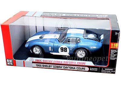 SHELBY COLLECTIBLES 00111 1965 65 SHELBY COBRA DAYTONA COUPE # 98 1/18 BLUE