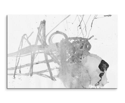 Leinwandbild abstrakt schwarz weiß Paul Sinus Abstrakt/_502/_120x80cm