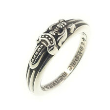 Authentic Chrome Hearts Baby Classic Dagger Ring Silver US7.5 JP15.5 Used F/S