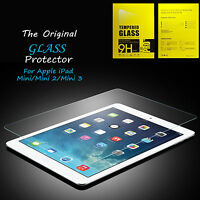 100% Genuine Real Tempered Glass Film Screen Protector For Apple iPad Mini 1/2/3