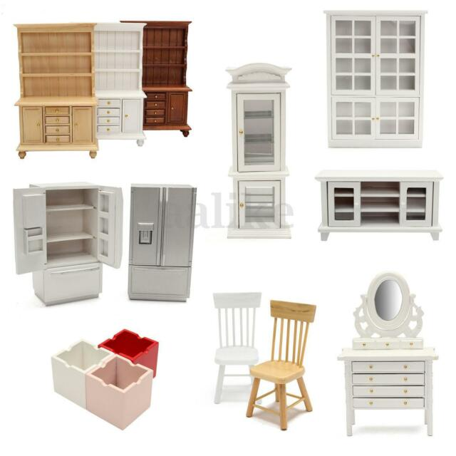 1/12 Scale Fairy Doll House Mini Wooden Furniture Living Room Accessories Decor