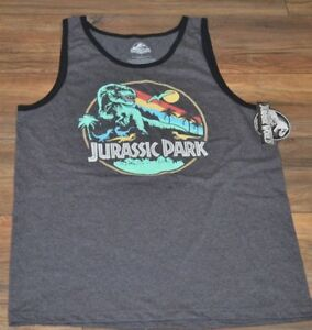 7d53585a554a9 Image is loading Jurassic-Park-Tank-Top-Mens-Officially-Licensed-Jurassic-