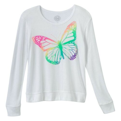 SO Girl/'s Plus 16 18 20  Butterfly Sequin Ivory Sweater Top NEW $30