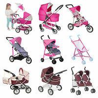 Girls Dolls Buggy Stroller Pushchair Baby Gift Pram Childrens Pretend Play Toy