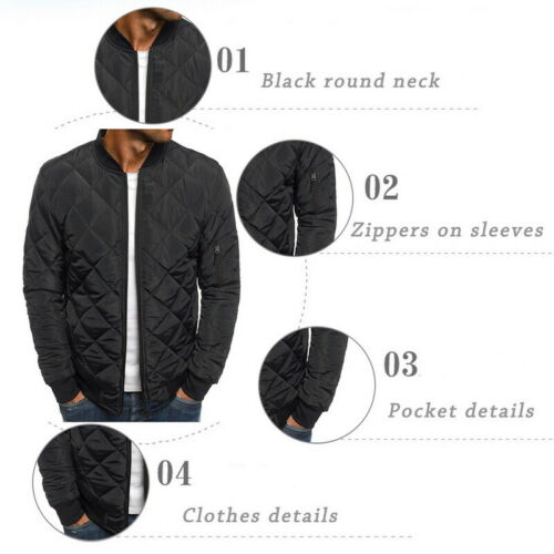 UK Men/'s Ultralight Jacket Puffer Bubble Down Coat Bomber Quilted Padded Parka