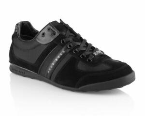 Image is loading HUGO-BOSS-Green-AKEEN-50247604-001-Trainers-Black