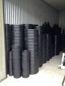 Ivanko Rubber Coated EZ Lift Weight Plates - RARE - HUGE Quantity Available!!!
