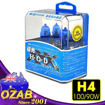 H4 HEADLIGHT GLOBES CAR LIGHT BULBS 100/90W 6000K 12V XENON SUPER WHITE (1 Pair)