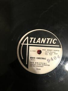 Drifters White Christmas / The Bells of St. Mary's 78 Atlantic 1048 Promo RARE