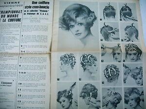 Coiffure La Voix De La Coiffure Francaise Revue N° 50 1968 - 6 Modèles Expliqués Nqwcfsvx-07163725-488382334