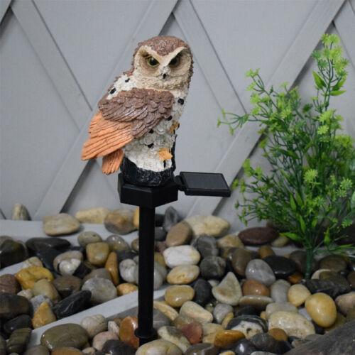 Solar LED Light Owl Animal Ornament Lamp Waterproof Garden Path Yard Lawn Decor