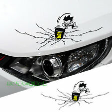 1PC 50T Beat Crack Car Headlight Taillight Eyebrow Decal Sticker Vinyl - Black