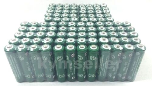 100 pcs Rechargeable NiMH AAA 600mAh Ni-mh Batteries for Solar Light H100