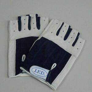 ABVERKAUF: J.F.D. Segelhandschuh<wbr/>e Gr. XXL /  9 kurz halbe Finger Leder